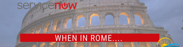 ServiceNow Upgrades and Rome
